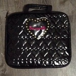 Betseyville Puffy Heart Black Leather Laptop Bag